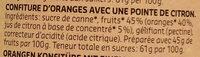 Confiture Orange Bio - Ingrédients - fr
