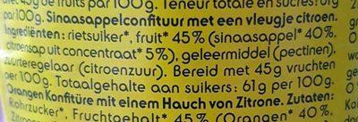 Confiture Orange Bio - Ingrediënten