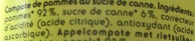 Compote de Pomme - Ingrédients - fr