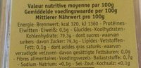 Miel acacia - Informations nutritionnelles - fr