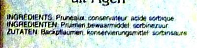 Pruneaux d'Agen sans noyaux - Ingrediënten