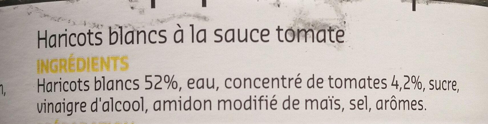 Haricot blanc a la sauce tomate - Ingredients - fr