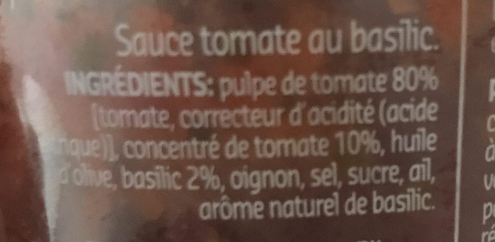 Basilico - Ingrédients