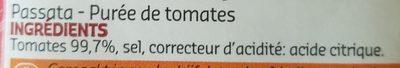 Purée de Tomates - Ingrediënten