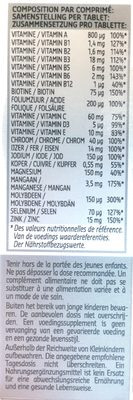 Multivitamines - Informations nutritionnelles