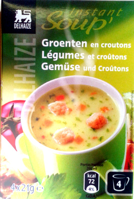 Légumes et croûtons - Produit