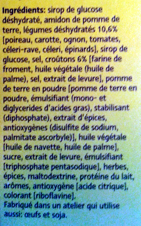 Légumes et croûtons - Ingrediënten - fr