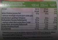 100% pur jus pomme - Nutrition facts - fr