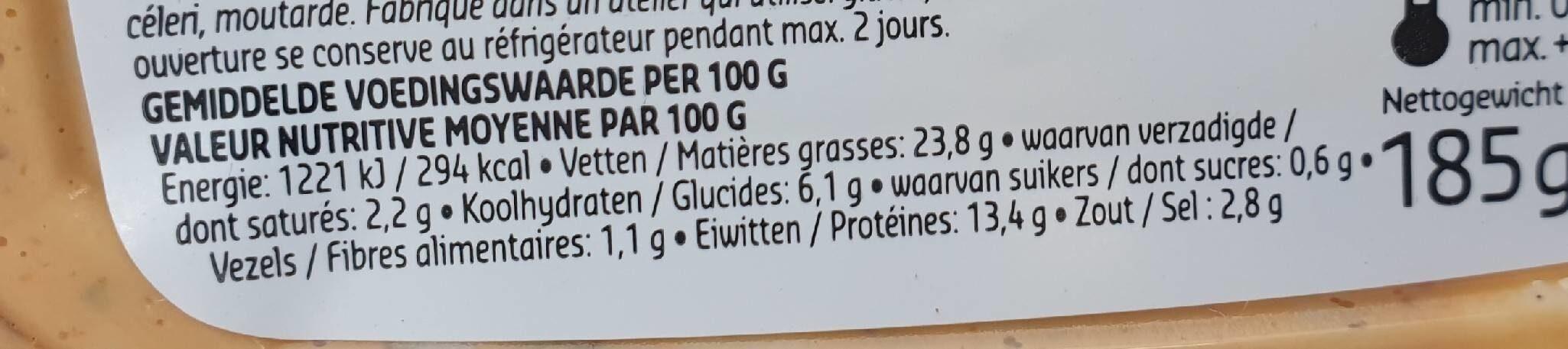 Poulet au lourd croustillant - Informations nutritionnelles - fr