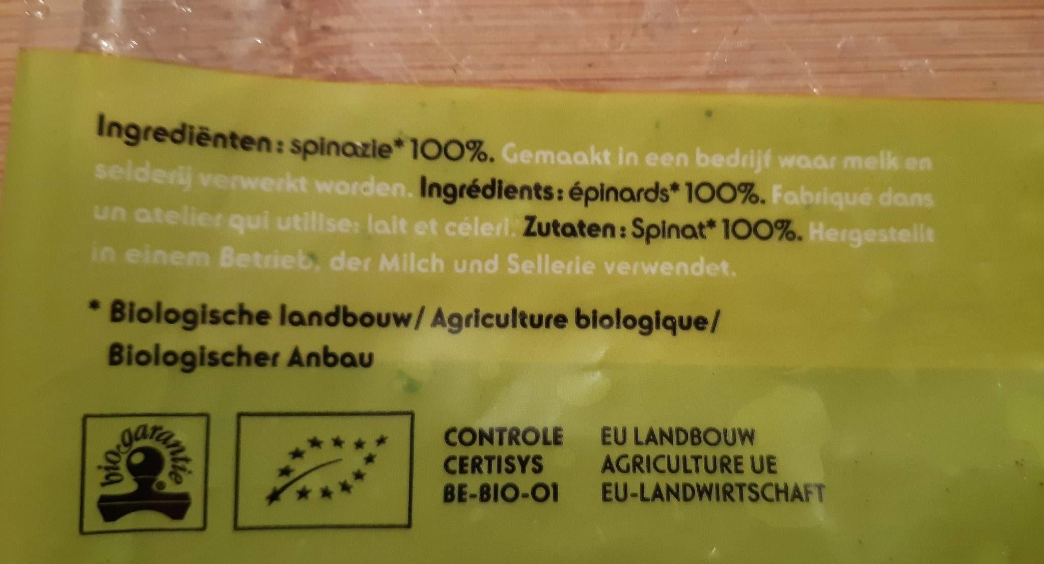 Epinards en branches - Ingrediënten