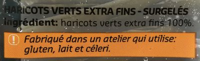 Haricots verts extra fins - Ingrédients