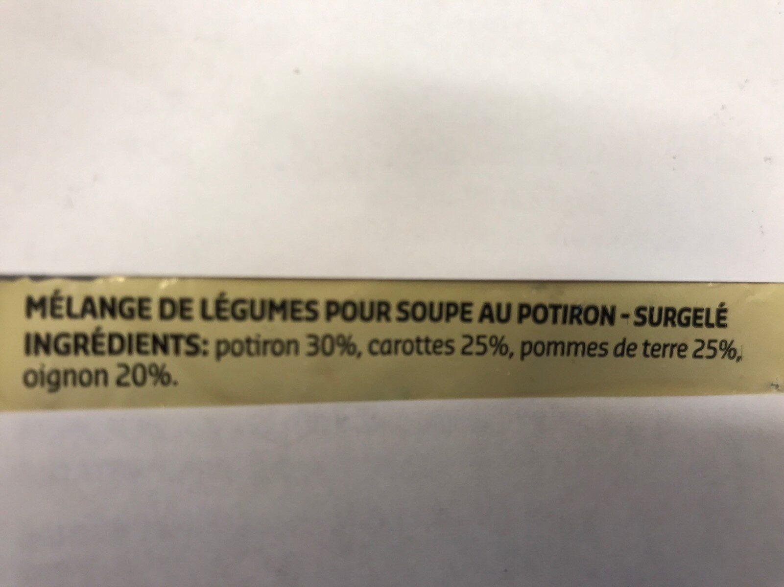 Mélange de légumes pour soupe au potiron - Ingrediënten