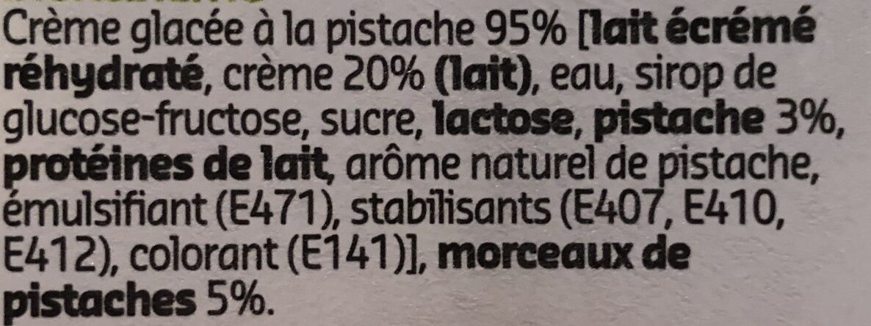 Icecream Pistachio - Ingrediënten - fr