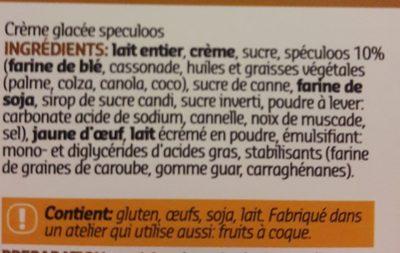 Icecream speculoos - Ingredienti - fr
