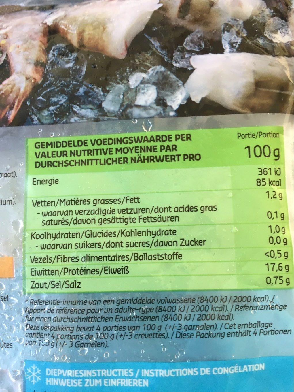 Garnelenschwänze - Voedingswaarden