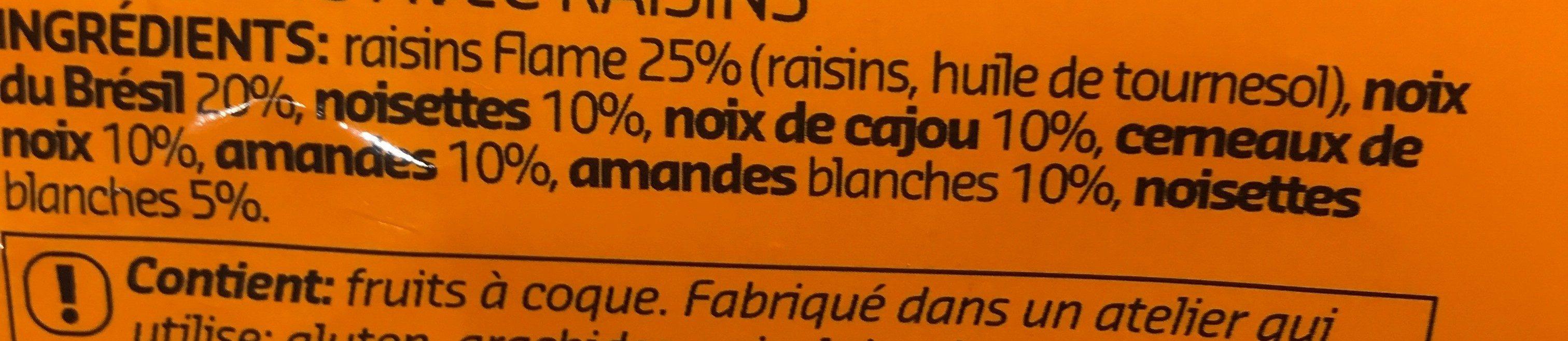 Mendiants Avec Raisins - Ingrediënten