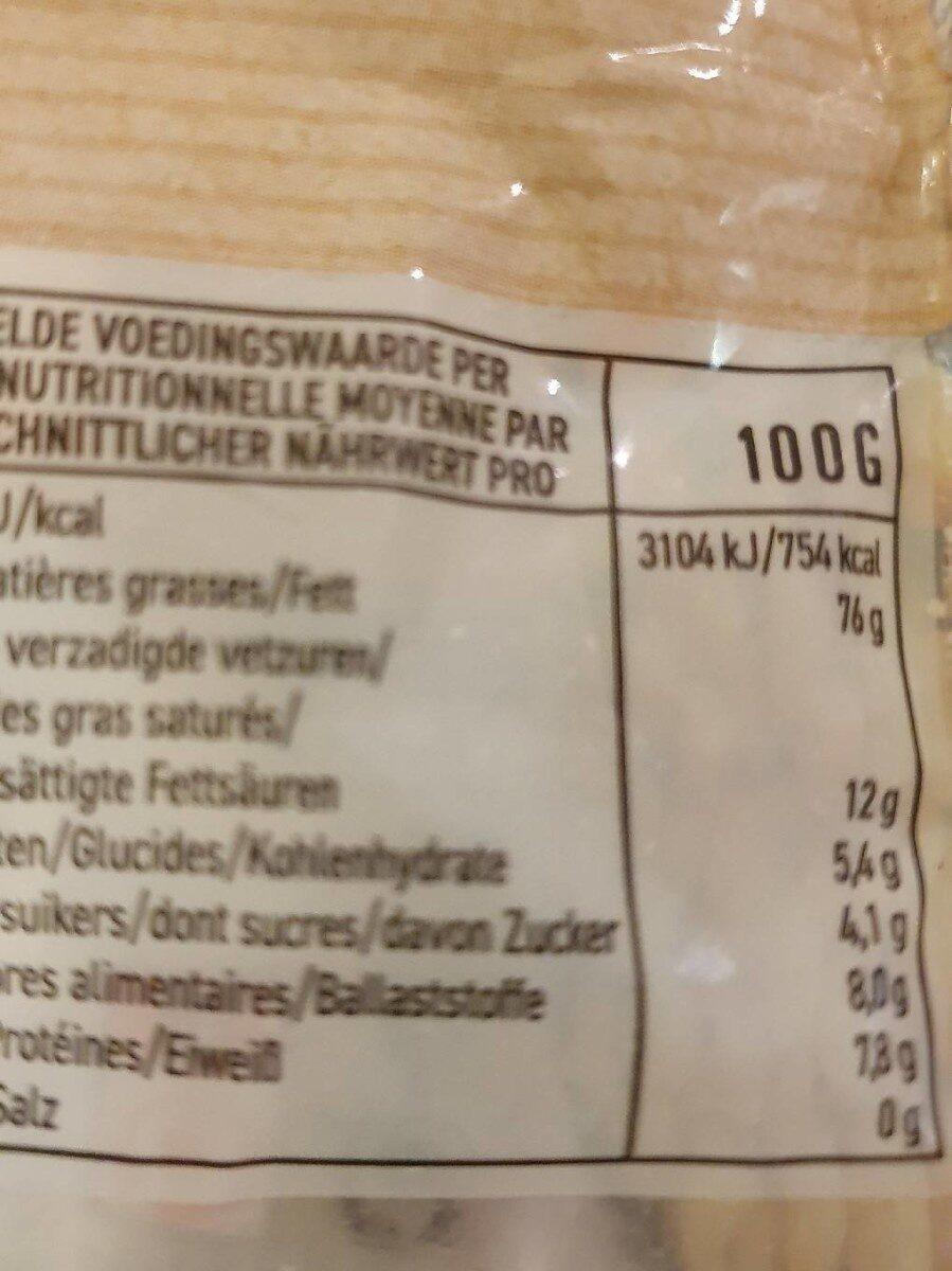 Macadamia - Voedingswaarden - fr