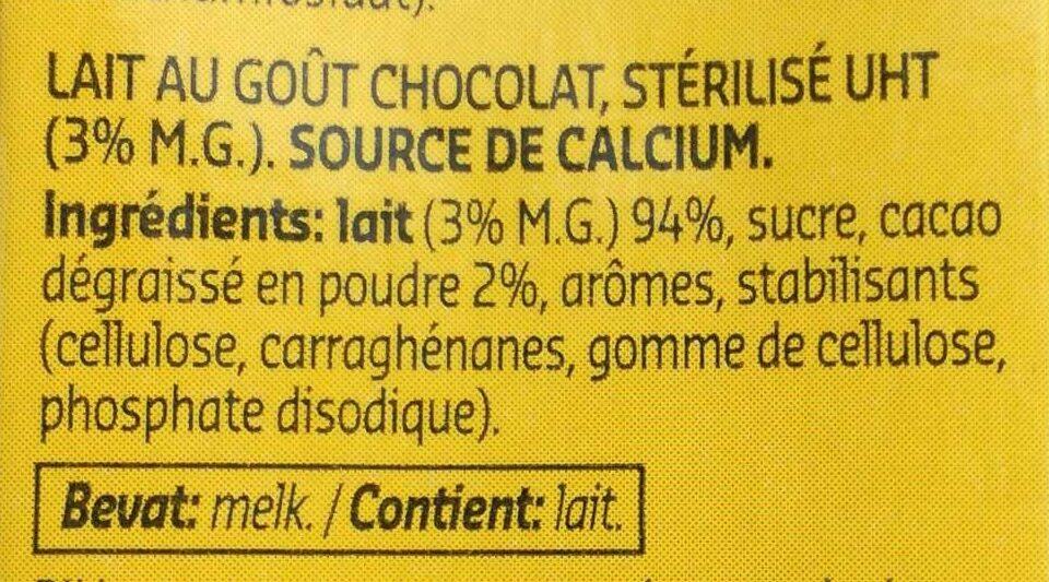 Choco melk lait - Ingredients - fr
