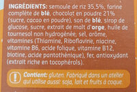 Choco Puffies - Ingrédients - fr