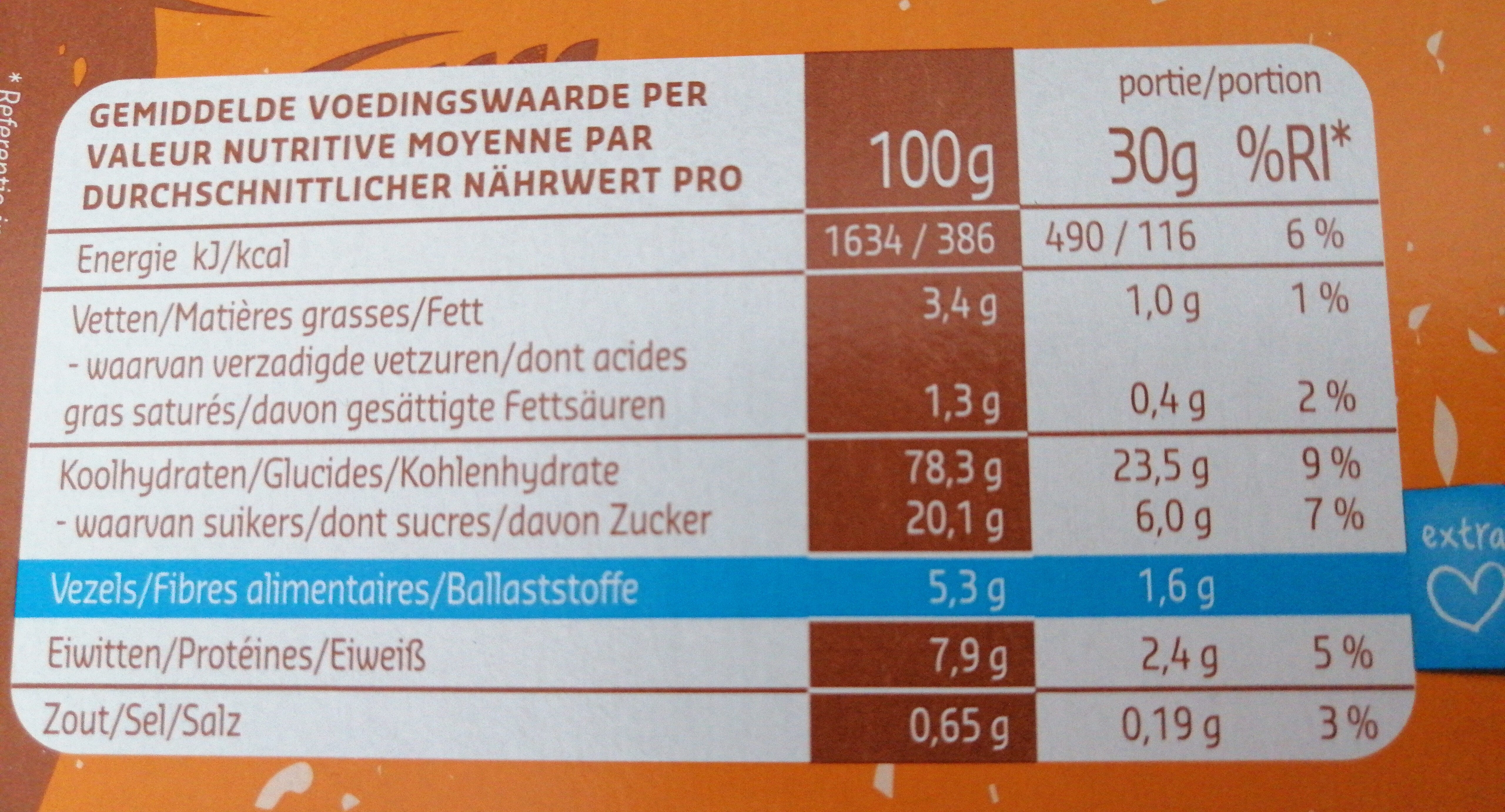 Choco Puffies - Informations nutritionnelles - fr