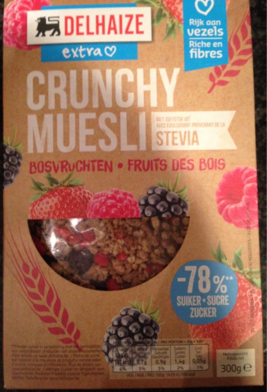 Crunchy Muesli Stevia Fruits Rouges - Product - fr