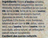 Crunchy Muesli Stevia Fruits Rouges - Ingrediënten - fr