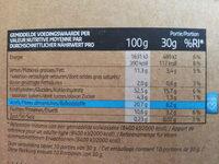 Crunchy Muesli Stevia Fruits Rouges - Voedingswaarden - nl