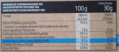 Crunchy Muesli épeautre & avoine soufflée - Nutrition facts