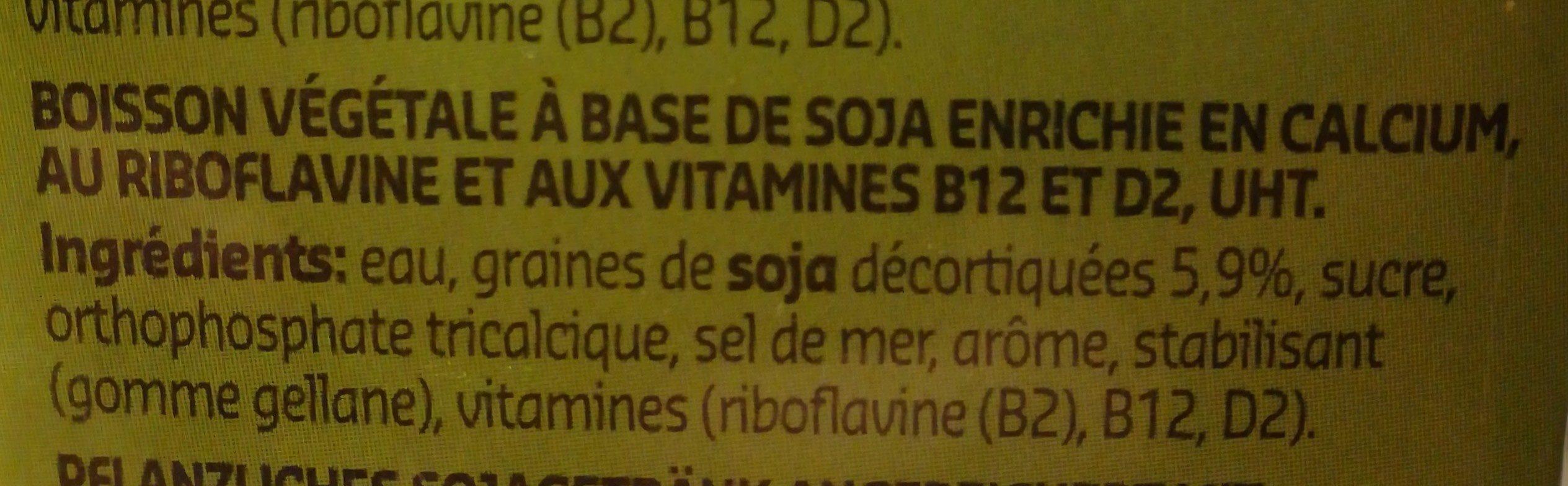 Soja Nature - Ingrediënten - fr