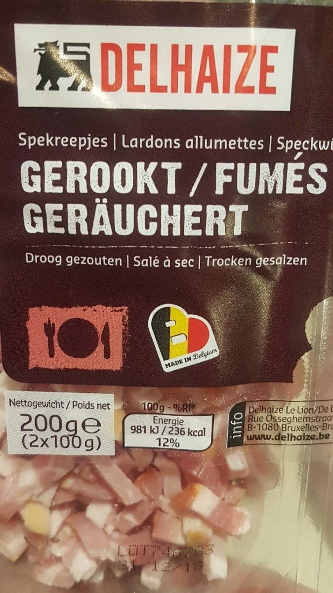 Lardon allumette - Product