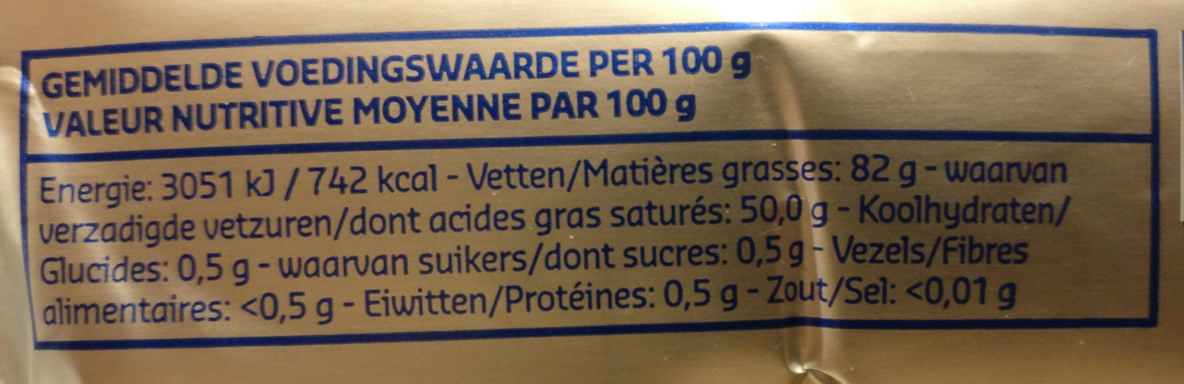 Beurre d'Ardenne baratté - Informations nutritionnelles - fr