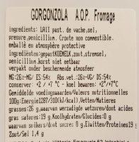 Gorgonzola AOP - Informations nutritionnelles - fr
