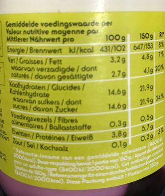 Yaourt entier aux Myrtilles - Voedingswaarden