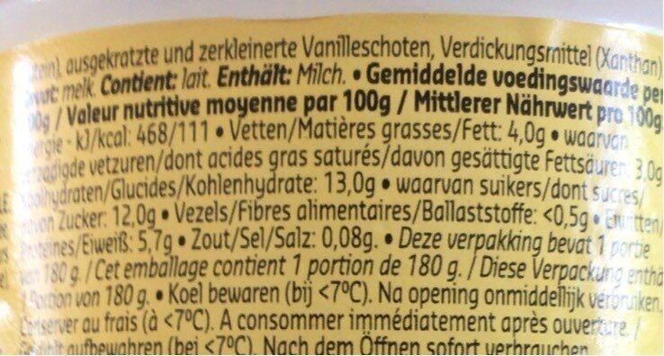 Spécialité laitière au fromage frais - Voedingswaarden - en
