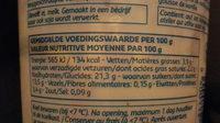 Riz au lait à la vanille - Voedingswaarden - nl