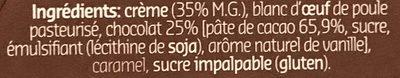 Mousse au chocolat amer - Ingrediënten