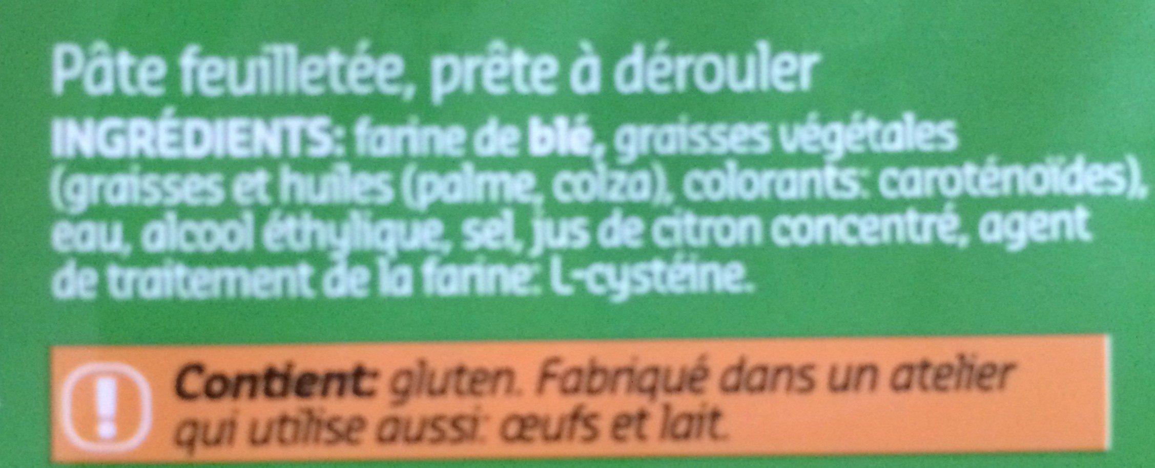 Pâte feuilletée - Ingrediënten