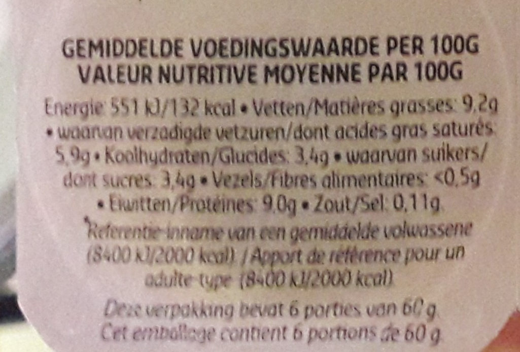 Petit suisses - Voedingswaarden - nl
