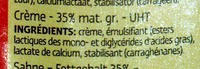 Crème riche et onctueuse - Ingredients