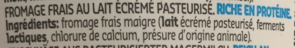 Fromage Frais - Ingrédients - fr