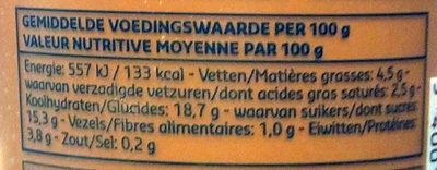 Pudding au Chocolat - Voedingswaarden - fr