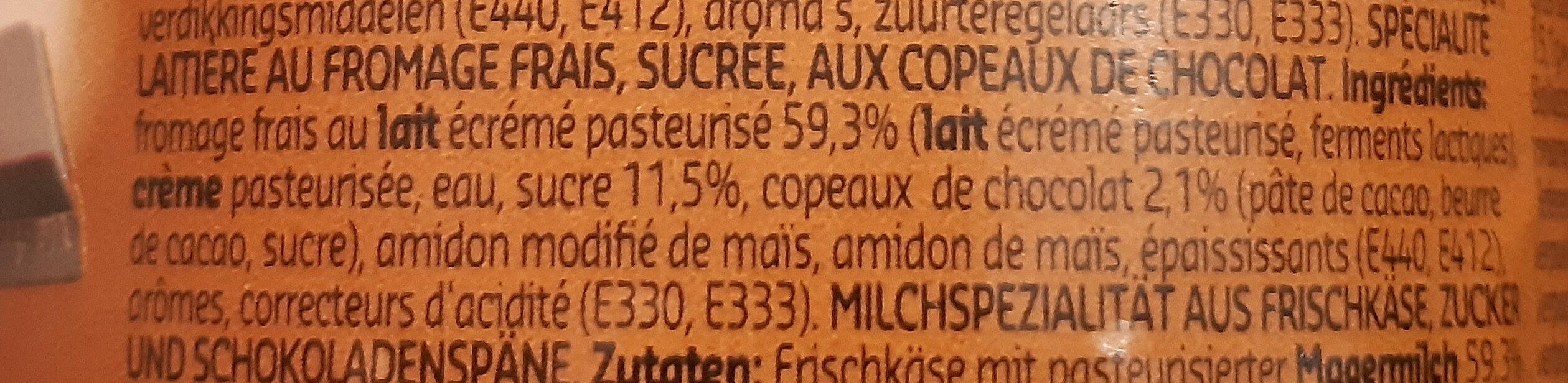 Stracciatella - Ingrediënten - fr