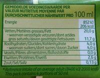 Crème culinaire - Voedingswaarden - fr
