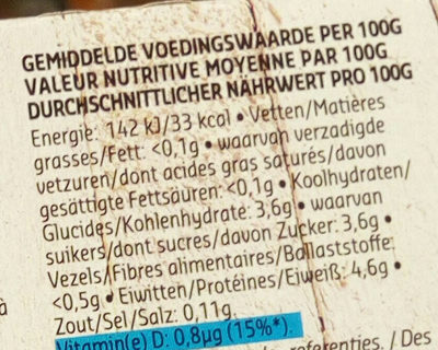 Yaourt nature 0% - Voedingswaarden - fr