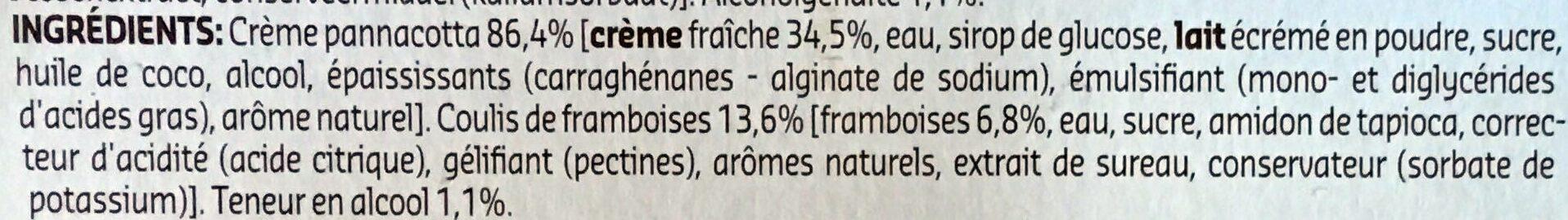 Panna cota - Ingredients - fr