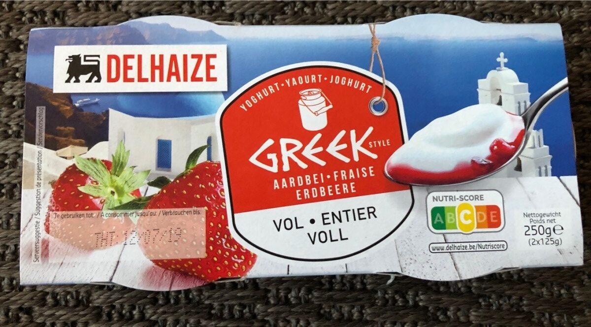 Delhaize Greek yoghurt fraise - Product