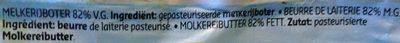 Beurre Doux de Laiterie - Ingrediënten - fr