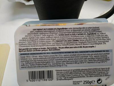 Margarine Light 25% mg. 250 gr. - Ingrediënten