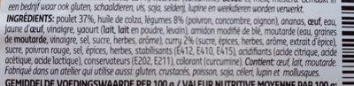 Poulet indien - Ingrediënten