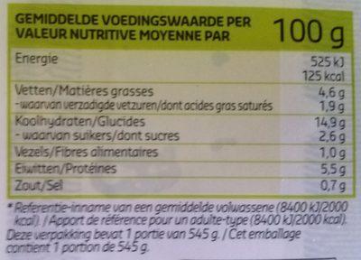 Spaghetti Bolognaise - Informations nutritionnelles - nl